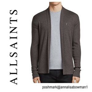 ⭐️Men's ALL SAINTS Mode Merino Open Cardigan Small